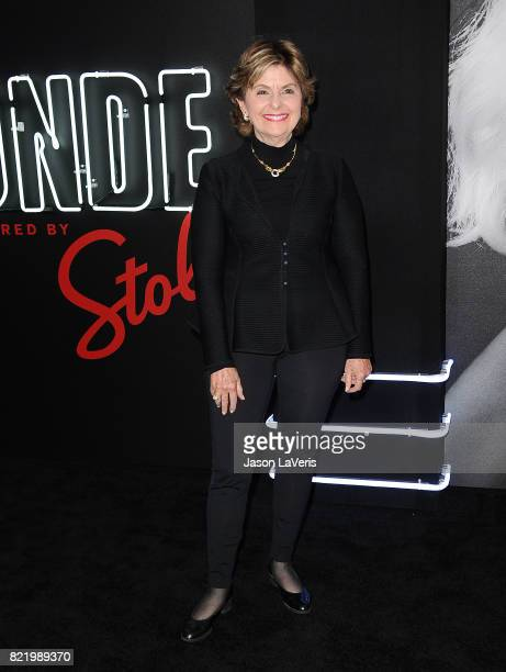 Gloria Allred attends the premiere of 'Atomic Blonde' at The Theatre at Ace Hotel on July 24 2017 in Los Angeles California
