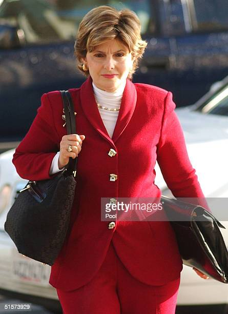 Gloria Allred attorney for accused murderer Scott Peterson's mistress Amber Frey arrives at the San Mateo County Courthouse for the capital murder...