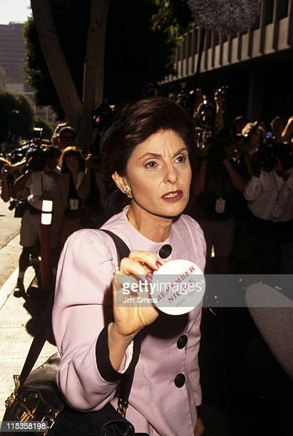 Gloria Allred during O.J. Simpson Criminal Trial - Verdict of Not Guilty Paraphernalia at Los Angeles Courthouse in Los Angeles, California, United...