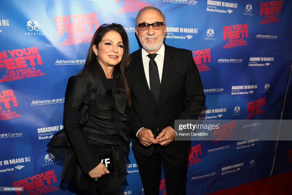 Gloria and Emilio Estefan attends 'On Your Feet!' National Tour Opening Night at Adrienne Arsht Center on October 6, 2017 in Miami, Florida.
