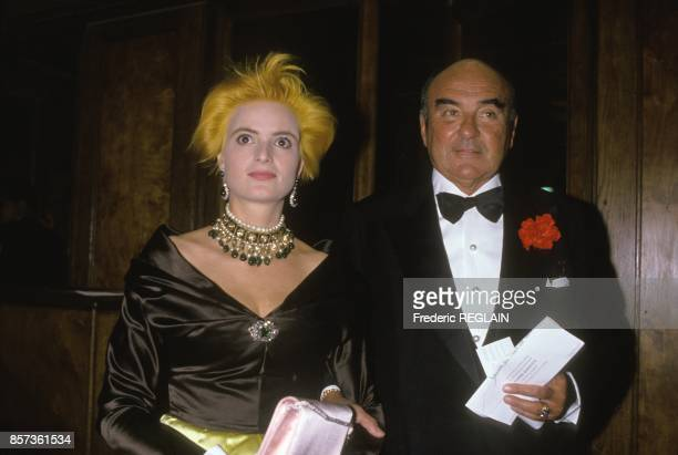 Gloria and Johannes von Thurn und Taxis at Leonard Bernstein's 70th birthday party on October 14 1988 in Paris France