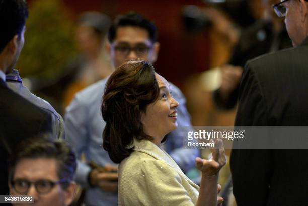 Gloria Arroyo, former President of the Philippines, attends the Asian Development Bank 50th Anniversary reception in Manila, the Philippines, on...