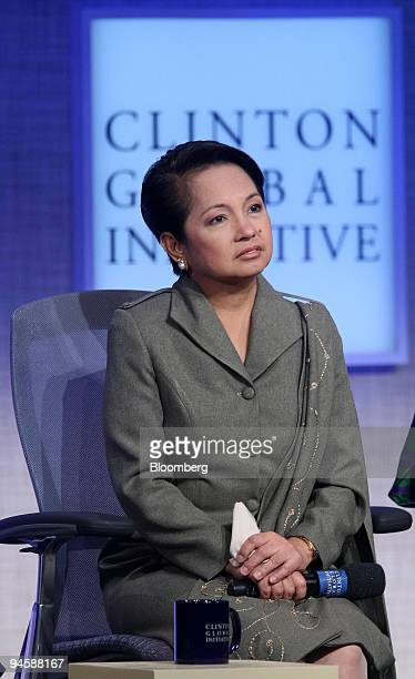Gloria Arroyo, president of the Phillippines and a college classmate of former U.S. President Bill Clinton, attends the Clinton Global Initiative in...