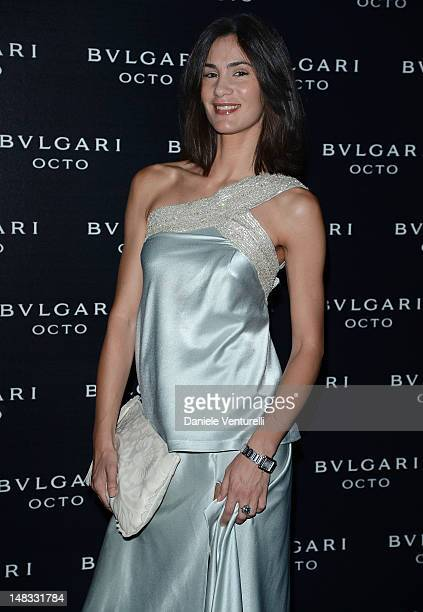Gloria Bellicchi attend the OCTO The New Architecture of Time by Bulgari event at the Stadio dei Marmi on July 13 2012 in Rome Italy