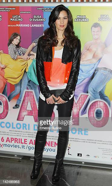 Gloria Bellicchi attends the Good As You premiere at Cinema Fiamma on April 5 2012 in Rome Italy