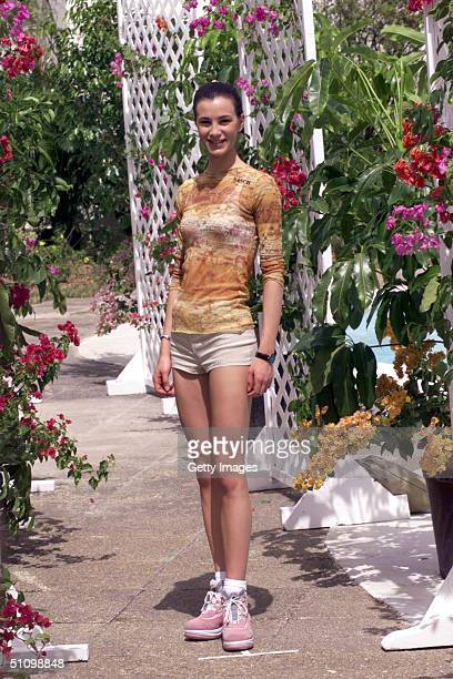 Gloria Bellicchi Miss Italy 1999 PreTapes Her 'Beauty Shot' May 9 1999 At The Holiday Inn Trinidad That Will Be Featured During The Live Two Hour...