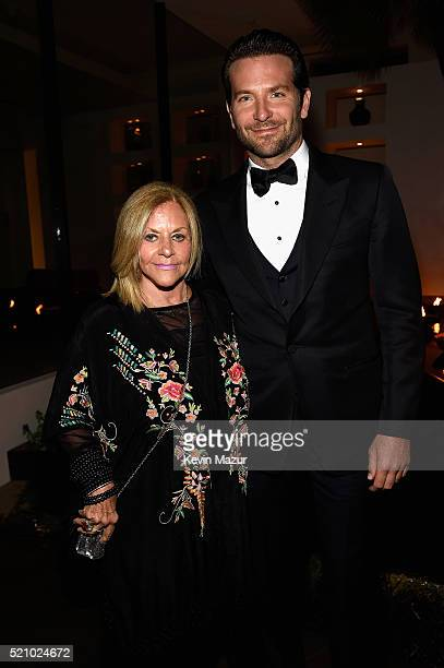 Gloria Campano and actor Bradley Cooper attend the launch of the Parker Institute for Cancer Immunotherapy an unprecedented collaboration between the...