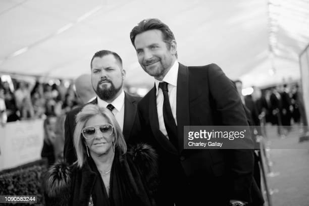 Gloria Campano and Bradley Cooper attend the 25th Annual Screen Actors Guild Awards at The Shrine Auditorium on January 27 2019 in Los Angeles...