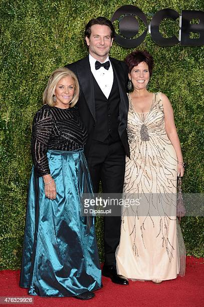 Gloria Campano Bradley Cooper and Holly Cooper attend the American Theatre Wing's 69th Annual Tony Awards at Radio City Music Hall on June 7 2015 in...