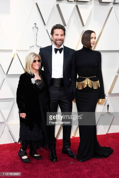 Gloria Campano, Bradley Cooper, and Irina Shayk attend the 91st Annual Academy Awards at Hollywood and Highland on February 24, 2019 in Hollywood,...