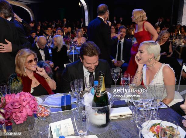 Gloria Campano Bradley Cooper and Lady Gaga during the 25th Annual Screen Actors Guild Awards at The Shrine Auditorium on January 27 2019 in Los...