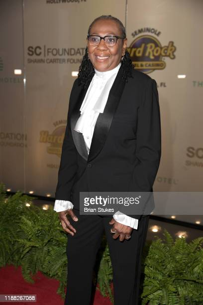 Gloria Carter attends Shawn Carter Foundation Gala at Seminole Hard Rock Hotel And Casino on November 16 2019 in Hollywood Florida