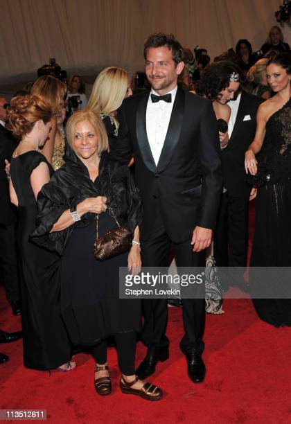 Gloria Cooper and actor Bradley Cooper attend the Alexander McQueen Savage Beauty Costume Institute Gala at The Metropolitan Museum of Art on May 2...