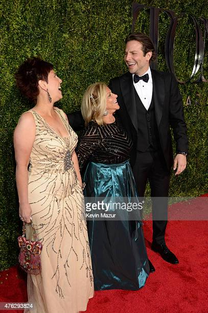 Gloria Cooper and Bradley Cooper attend the 2015 Tony Awards at Radio City Music Hall on June 7 2015 in New York City