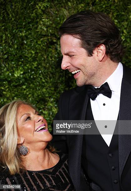 Gloria Cooper and Bradley Cooper attends the 2015 Tony Awards at Radio City Music Hall on June 7 2015 in New York City