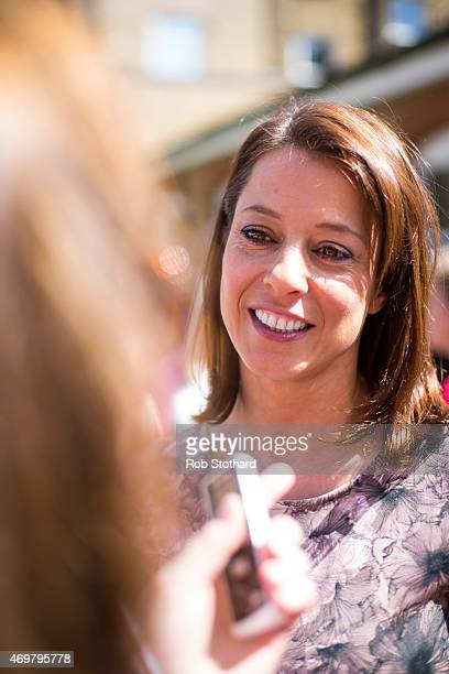 Gloria De Piero prospective parliamentary candidate for the Labour Party in Ashfield meets parents and children at Stockwell Gardens Nursery for the...