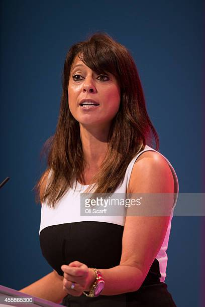 Gloria De Piero Shadow Women and Equalities Minister delivers a speeches on the opening day of the Labour Party Conference on September 21 2014 in...