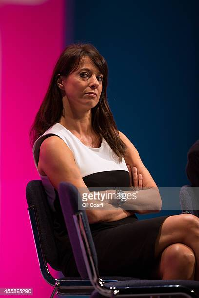 Gloria De Piero Shadow Women and Equalities Minister listens to the speeches on the opening day of the Labour Party Conference on September 21 2014...