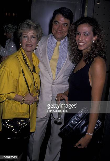 Gloria DeHaven critic Rex Reed and Amanda Green attend Paul Newman Opening on August 15 1989 at the Rainbow Room in New York City