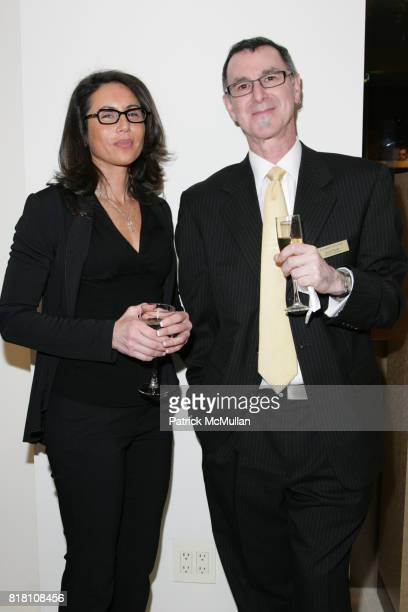 Gloria Dibrizzi and David Strahl attend LEONARD OPTICIANS FLAGSHIP STORE OPENINGS PARTY at 24 West 55th Street on November 18 2010 in New York City