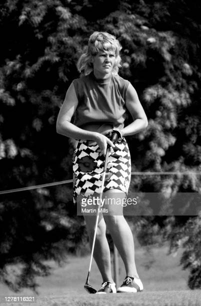 Gloria Ehret of the United States follows her shot during the 1972 U.S. Women's Open Golf Championship on July 2, 1972 at the Winged Foot Golf Club,...