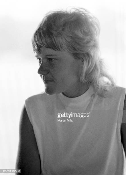 Gloria Ehret of the United States sits in the club house before the 1972 U.S. Women's Open Golf Championship on July 1, 1972 at the Winged Foot Golf...