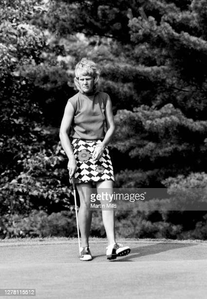 Gloria Ehret of the United States walks on the green before her putt during the 1972 U.S. Women's Open Golf Championship on July 2, 1972 at the...