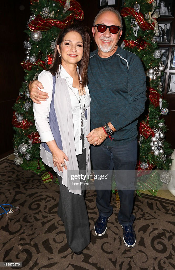 Gloria & Emilio Estefan host the 8th Annual Thanksgiving Feed A Friend at Bongos Cuban Cafe At Seminole Hard Rock Hotel And Casino on November 26, 2015 in Hollywood, Florida.
