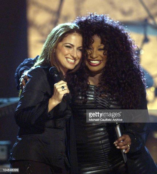 Gloria Estefan and Chaka Khan perform a medley at Women Rock Girls and Guitars airing on the Lifetime Television Network October 25th 2002 at 10 pm