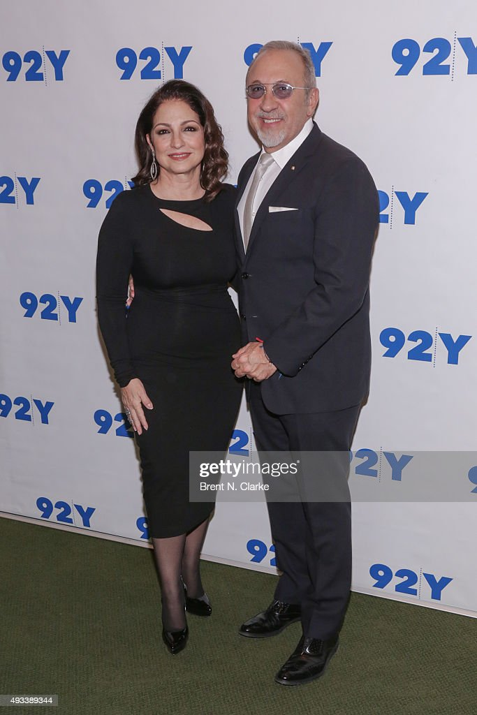 Gloria Estefan and Emilio Estefan attend Gloria and Emilio Estefan In Conversation with Rita Moreno held at the 92nd Street Y on October 19, 2015 in New York City.