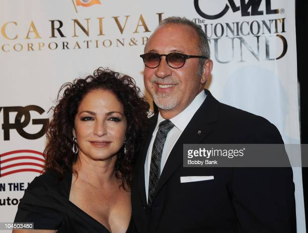 Gloria Estefan and Emilio Estefan attend the 25th Annual Great Sports Legends Dinner at The Waldorf=Astoria on September 27, 2010 in New York City.