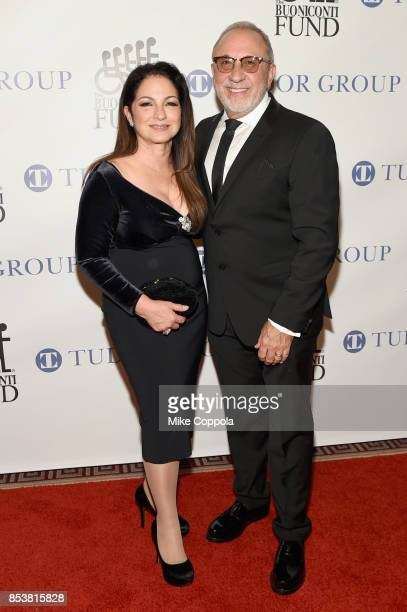 Gloria Estefan and Emilio Estefan attend the 32nd Annual Great Sports Legends Dinner To Benefit The Miami Project/Buoniconti Fund To Cure Paralysis...