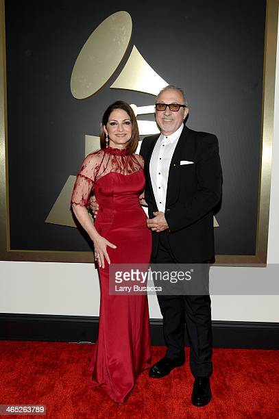 Gloria Estefan and Emilio Estefan attend the 56th GRAMMY Awards at Staples Center on January 26 2014 in Los Angeles California