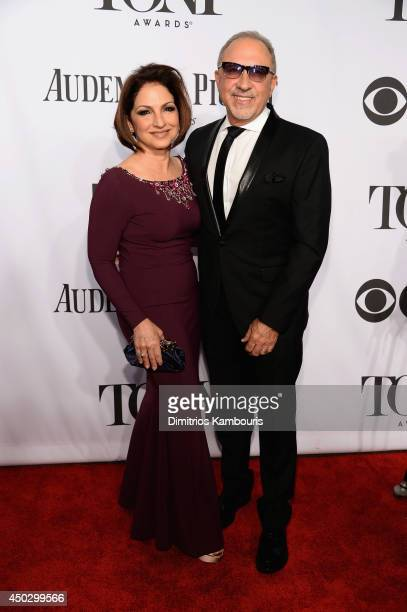 Gloria Estefan and Emilio Estefan attend the 68th Annual Tony Awards at Radio City Music Hall on June 8 2014 in New York City