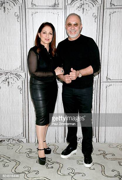 Gloria Estefan and Emilio Estefan attend the AOL Build Speaker Series 'On Your Feet' at AOL Studios In New York on April 26 2016 in New York City
