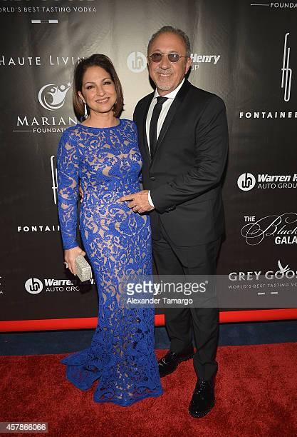 Gloria Estefan and Emilio Estefan attend The Blacks' Annual Gala at Fontainebleau Miami Beach on October 25 2014 in Miami Beach Florida