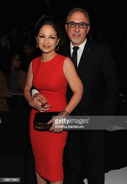 Gloria Estefan and Emilio Estefan attend the Narciso Rodriguez Fall 2012 fashion show during MercedesBenz Fashion Week at the The Box at Lincoln...