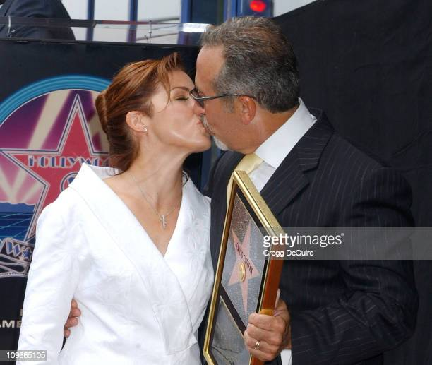 Gloria Estefan and Emilio Estefan during Emilio Estefan Honored With a Star on the Hollywood Walk of Fame for His Achievements in Music at Hollywood...