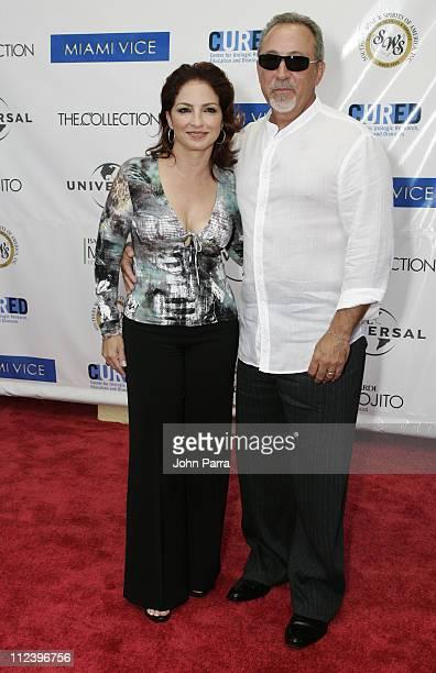 Gloria Estefan and Emilio Estefan during 'Miami Vice' Miami Premiere Arrivals at Lincoln Theatre in South Beach Florida United States