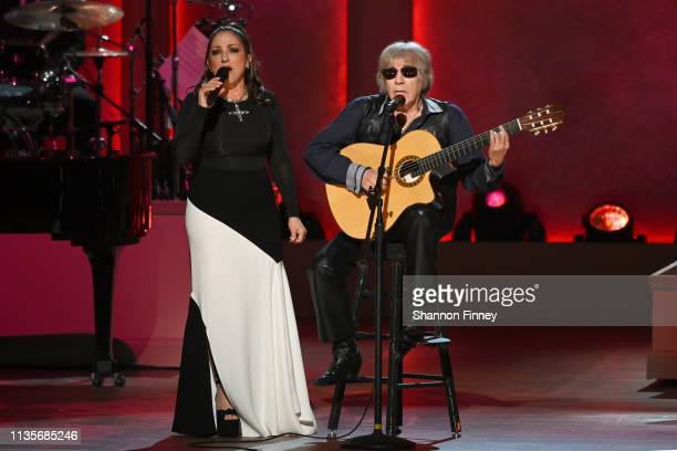Gloria Estefan and Jose Feliciano perform at the 2019 Gershwin Prize Honoree's Tribute Concert at DAR Constitution Hall on March 13 2019 in...
