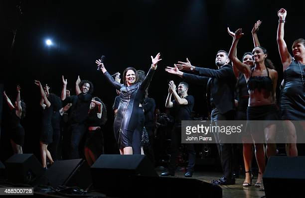 Gloria Estefan And Miami Sound Machine A Benefit Concert for Viva Broadway at Minskoff Theatre on September 14 2015 in New York City