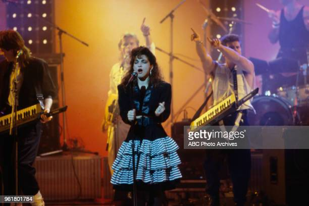 Gloria Estefan and Miami Sound Machine on the Walt Disney Television via Getty Images Special 'Royal Gala for the Prince's Trust' London Palladium...