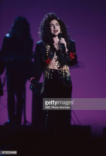 Gloria Estefan and Miami Sound Machine performing on the 17th Annual American Music Awards Shrine Auditorium January 22 1990