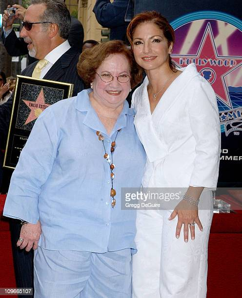 Gloria Estefan and mom Gloria during Emilio Estefan Honored With a Star on the Hollywood Walk of Fame for His Achievements in Music at Hollywood Blvd...