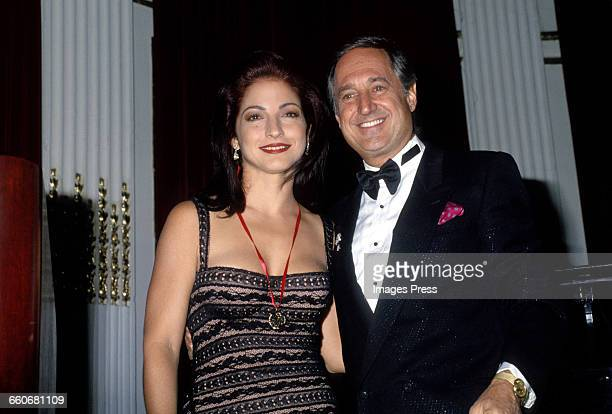 Gloria Estefan and Neil Sedaka circa 1993 in New York City