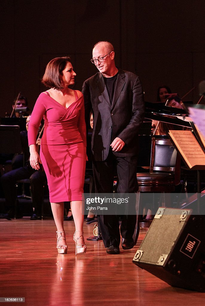 Gloria Estefan and Shelly Berg perform at Festival Miami's 30th Anniversary Season Kick Off With Gloria Estefan at Frost School of Music at the University of Miami Gusman Concert on October 1, 2013 in Coral Gables, Florida.