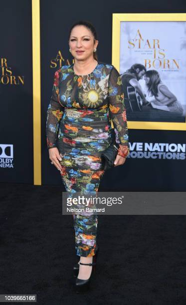 Gloria Estefan arrives at the Premiere Of Warner Bros Pictures' A Star Is Born at The Shrine Auditorium on September 24 2018 in Los Angeles California