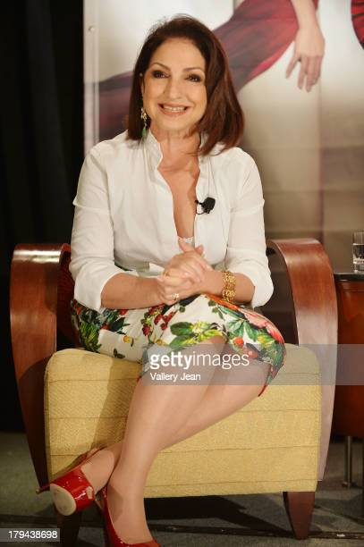 Gloria Estefan attends a press conference announcing her new recording The Standards at Mandarin Oriental on September 3 2013 in Miami Florida