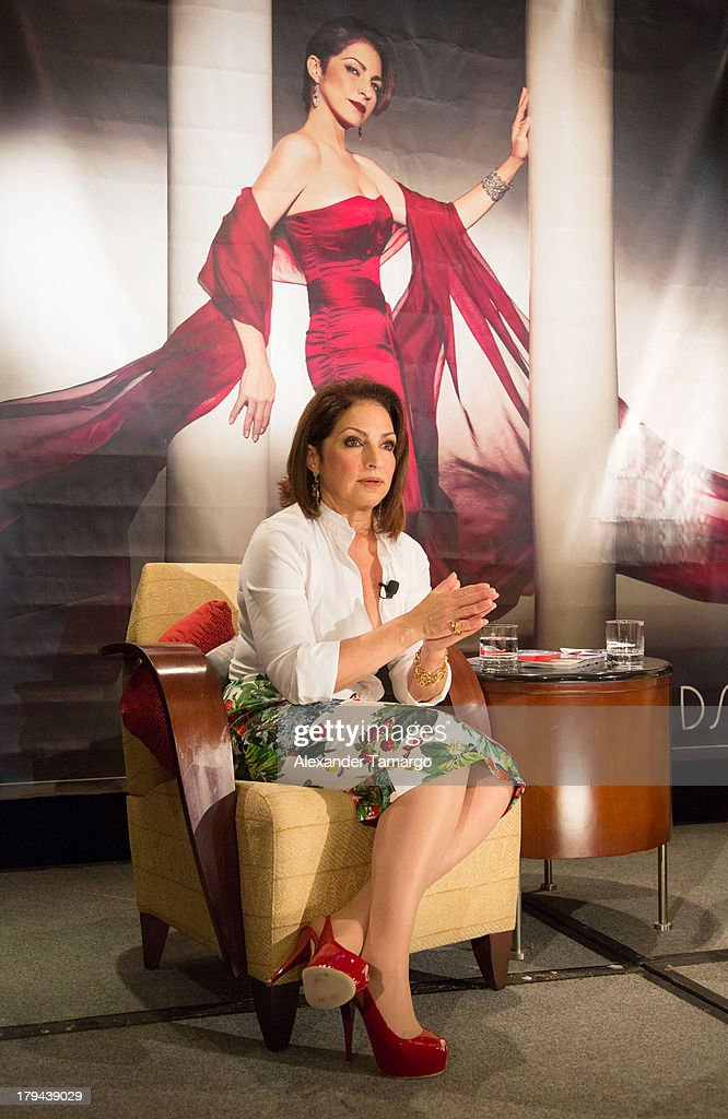 Gloria Estefan attends a press conference announcing her new recording 'The Standards' at Mandarin Oriental on September 3, 2013 in Miami, Florida.