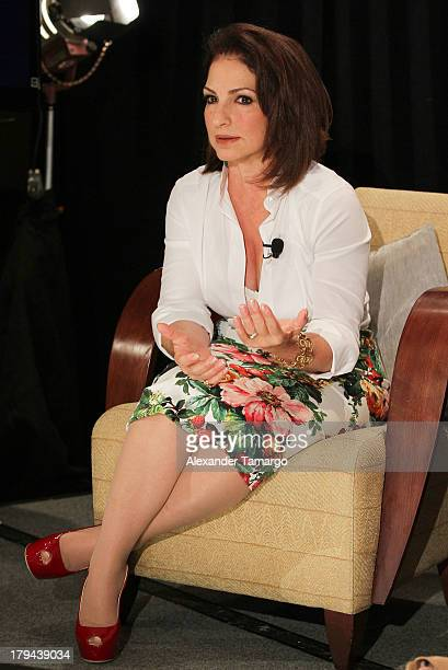 Gloria Estefan attends a press conference announcing her new recording 'The Standards' at Mandarin Oriental on September 3 2013 in Miami Florida